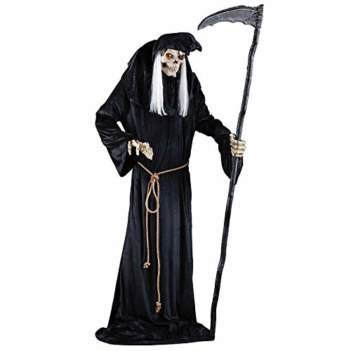 Frightening Animated Lunging Grim Reaper Prop LED Halloween